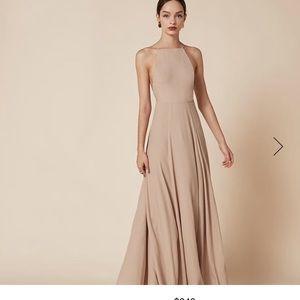 Like NEW Reformation Frossen nude dress